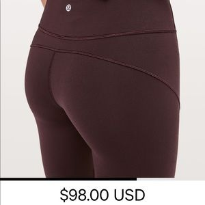 Lululemon pants size 10 plum color
